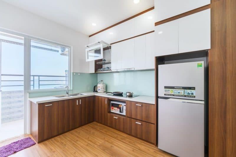 Đầy đủ vật dụng nhà bếp khi bạn muốn nấu ăn tại căn hộ