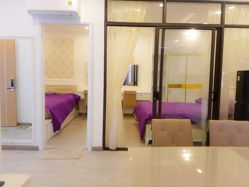 Mỗi căn hộ khách sạn Nha Trang gồm 2 -> 3 phòng ngủ