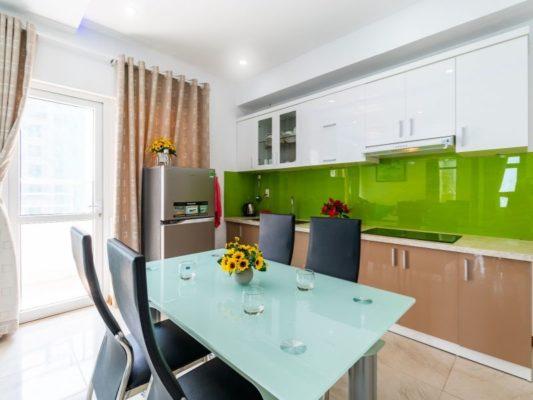 Phòng bếp căn hộ tiêu chuẩn