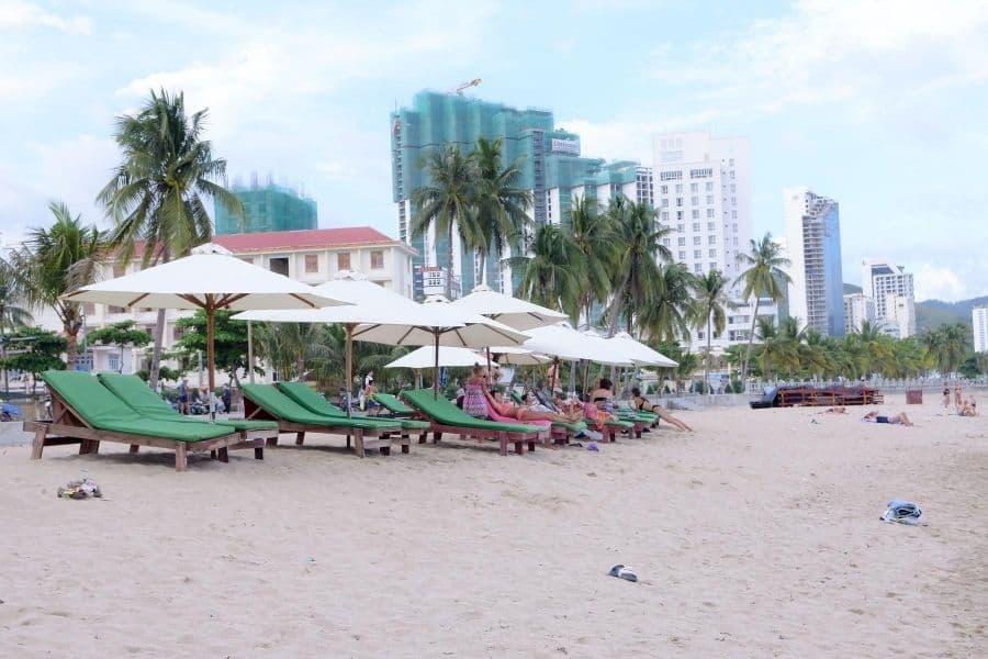 Khu vực nghỉ ngơi bãi biển Nha Trang